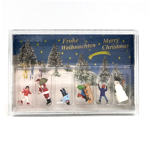 10626 Preiser【サンタと子ども・雪だるま】*
