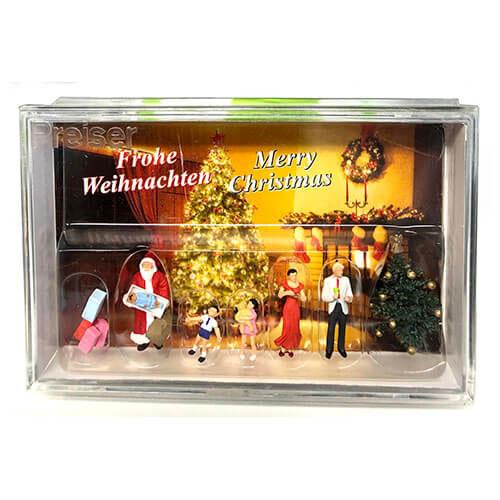 10652 Preiser【家族とクリスマスツリー】 *
