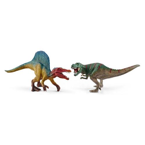 41455 schleich スピノサウルスとティラノサウルス・レックス(小)[01163]