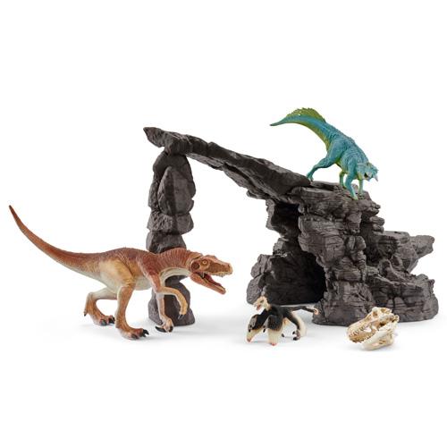 41461 schleich 恐竜たちの洞窟プレイセット