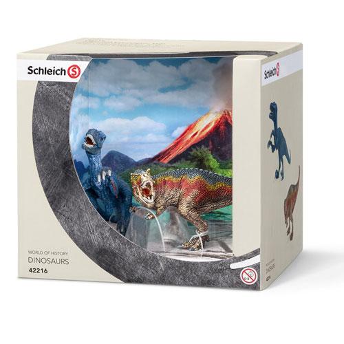 42216 schleich ティラノサウルス・レックスとベロキラプトル(小)