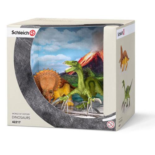 42217 schleich トリケラトプスとテリジノサウルス(小)