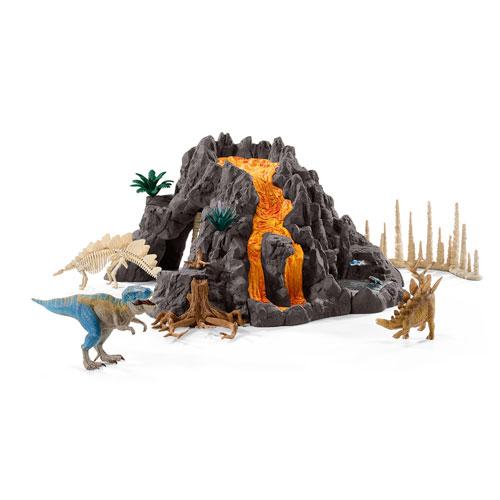 42305 schleich 大火山とティラノサウルス恐竜ビッグセット(2016年発売)
