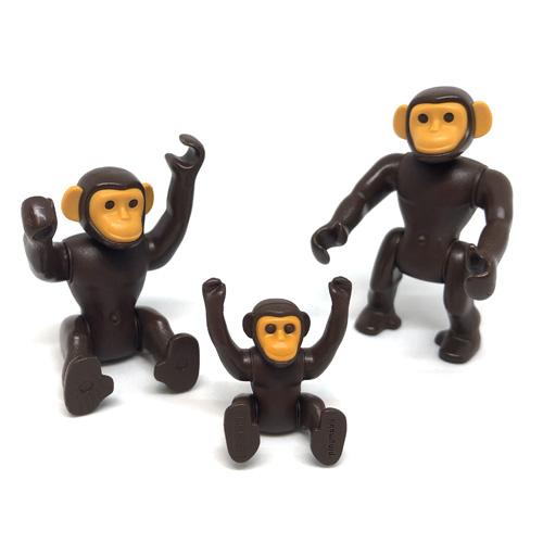 6650 playmobil【チンパンジーの家族】