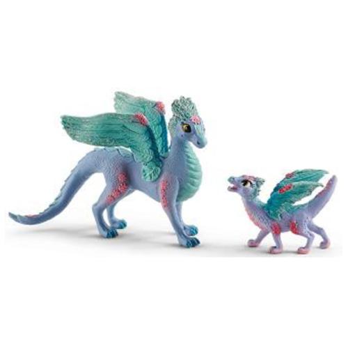 70592 schleich フラワー・ドラゴンの親子