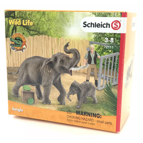 schleich ゾウの親子 お世話セット(限定商品)