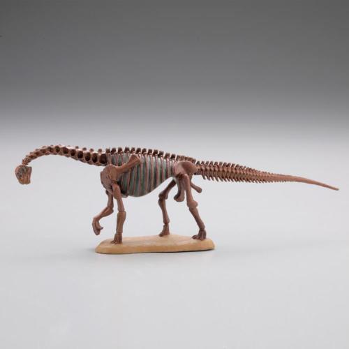 kymqno1903 miniQ 恐竜発掘記 恐竜造形大博覧会 第8弾 カマラサウルス骨格【化石色】