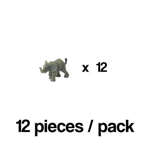 340222_12 Safari【ミニ ゾウ(12個)】