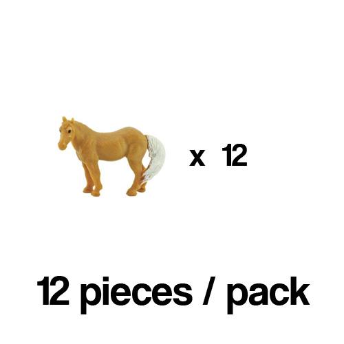 351022_12 Safari【ミニ パロミノ馬(12個)】