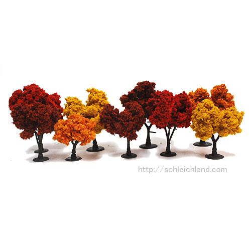 TR1540 広葉樹(紅葉色)高さ=3~7.5cm(9本入)